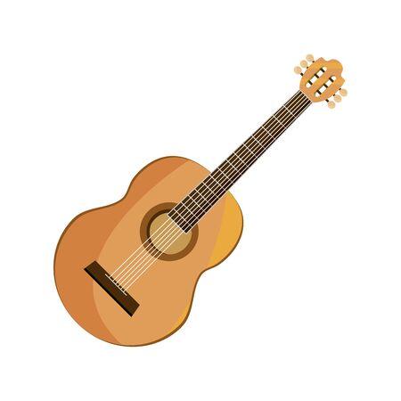 Illustration pour guitar string musical instrument isolated icon - image libre de droit