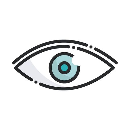 Photo for ophthalmology vision health care medical vector illustration line and fill icon - Royalty Free Image
