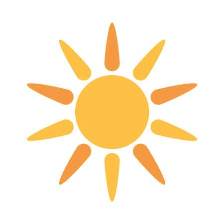 Illustration for summer sun weather season flat icon style vector illustration - Royalty Free Image