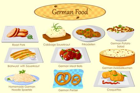 Vektor für Collection of delicious German food in vector - Lizenzfreies Bild