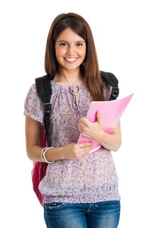 Foto de Portrait of a beautiful smiling student - Imagen libre de derechos