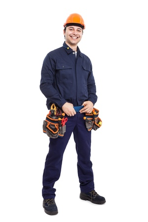 Full length portrait of an happy worker