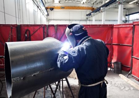 Portrait of a welder at work
