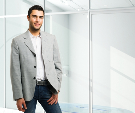 Handsome young business man portrait