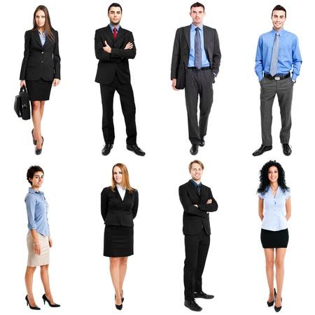 Photo pour Collection of full length portraits of business people - image libre de droit