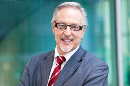 Smiling mature business man portrait