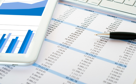 Foto de Financial data analysis concept - Imagen libre de derechos