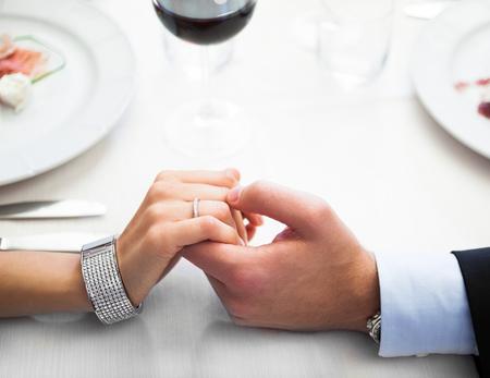 Photo for Romantic dinner in an italian restaurant - Royalty Free Image