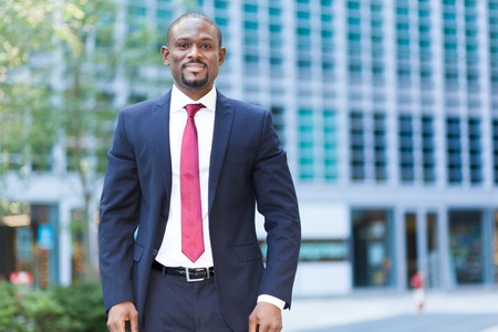 Photo for Confident black businessman outdoor - Royalty Free Image