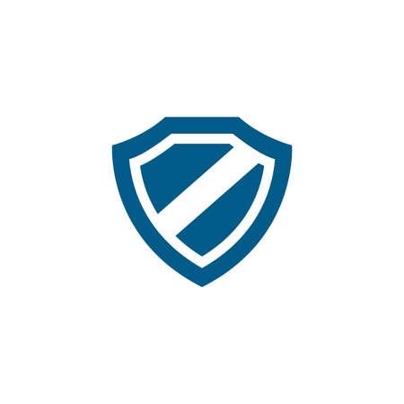 Illustration pour Shield Blue Icon On White Background. Blue Flat Style Vector Illustration. - image libre de droit