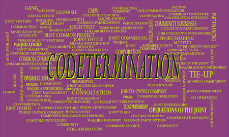 Code termination a business related terminology created on word cloud abstract background for commercial education purpose.