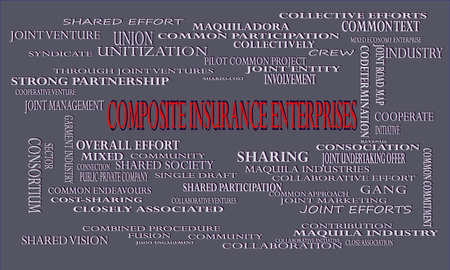 Composite Insurance Enterprises a business related terminology created on word cloud abstract background for commercial education purpose.