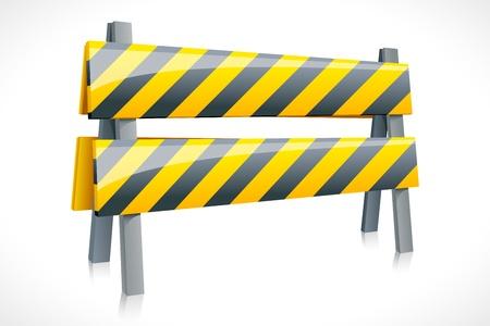 vector illustration of road barrier against white background