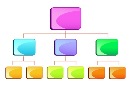 vector illustration of blank hierarchy diamgram for business