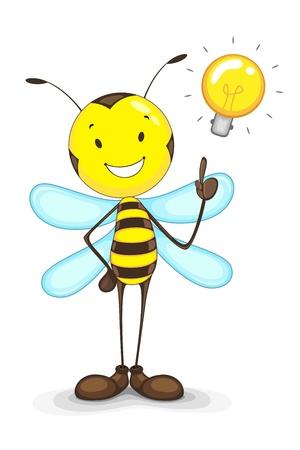 Bee with Idea Bulb