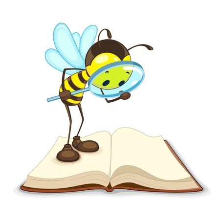 Bee searching with Magnifying Glass