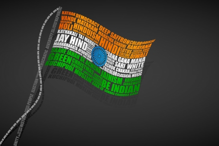 Typography Indian Flag