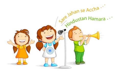 Kid singing Indian Song