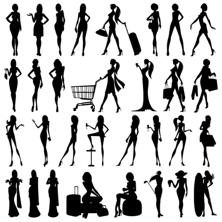 Illustration for Silhouette of Woman - Royalty Free Image