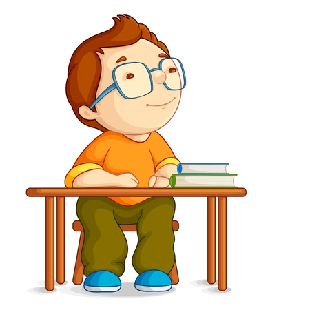 Illustration for Confused School Boy - Royalty Free Image