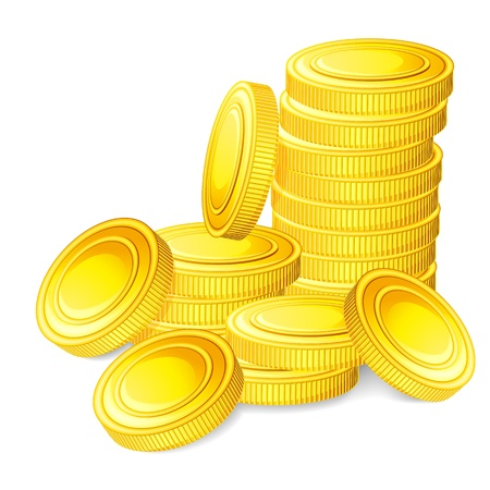illustration of stack of gold coin