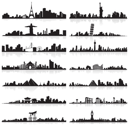 Skyline of famous city