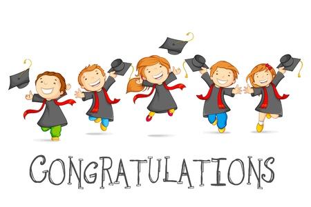 Illustration pour Happy Graduates - image libre de droit
