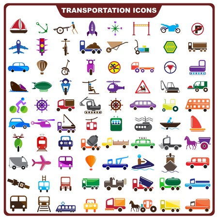 Colorful Transportation Icon