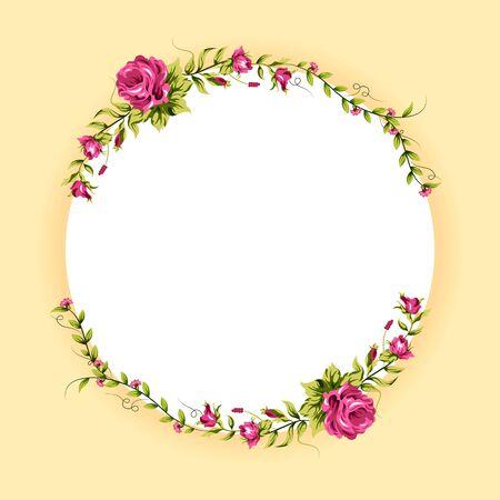 Illustration pour Spring fresh flower in floral banner poster background - image libre de droit