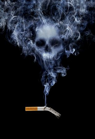 Cigarette with deadly smoke