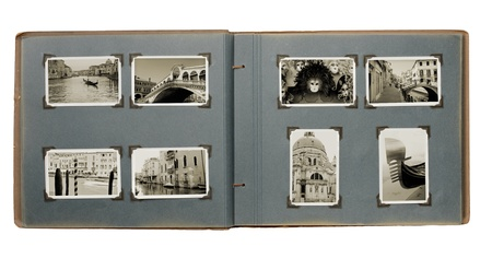 Old photo album with (new) photos from Venice, Italy.