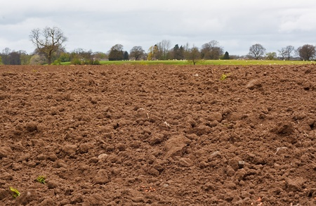 A freshly dug and recently seeded agricultural field, good background for farming