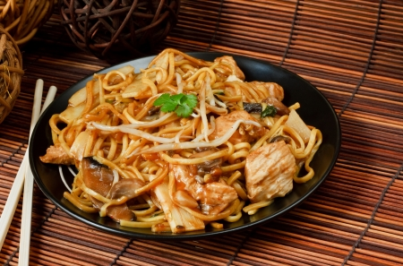 Chicken chow mein a popular chinese food available at take aways