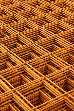 welded wire mesh stacked creating abstract industrial or engineering background
