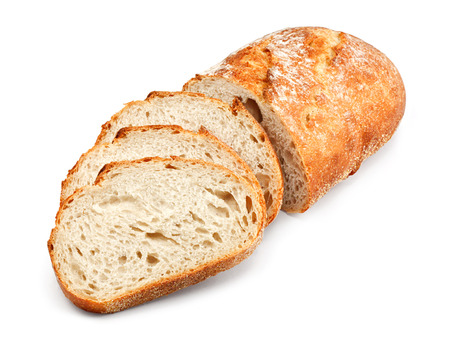 freshly baked homemade tradtional hand sliced bread