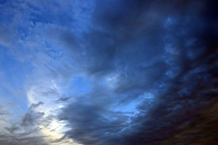 Thick bluish clouds