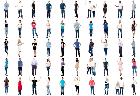 Photo pour Set of trendy people isolated on white background - image libre de droit