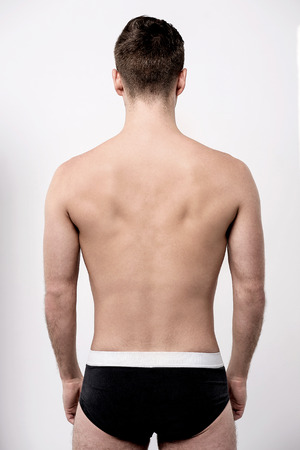 Perfect fit man from the back in underwear