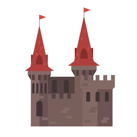 Medieval castle with towers - stronghold
