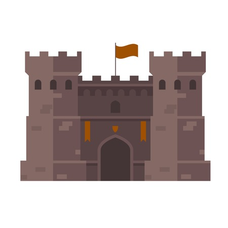 Medieval stronghold - old fortress towers