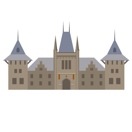 Medieval luxurious palace - castle with towers