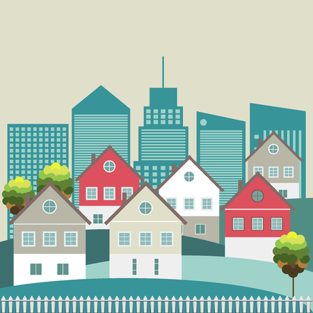 Colorful Houses, Real Estate Concept