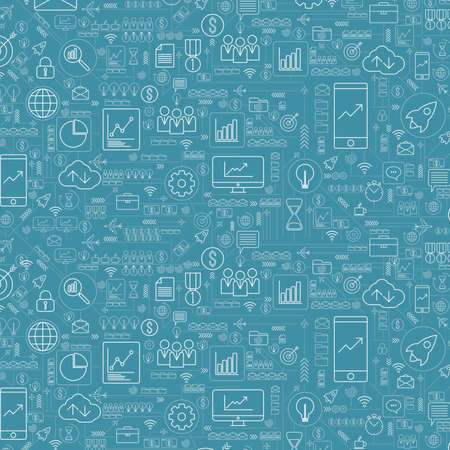 Photo for Abstract business and technology background with icons and financial concepts - Royalty Free Image