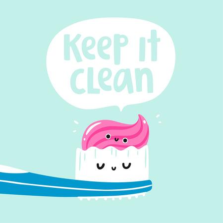 Illustration pour Keep it clean vector card - image libre de droit