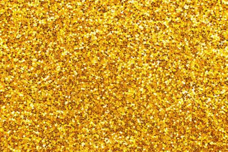 Photo pour glittering background of a golden sequins closeup. Sparkle festive texture - image libre de droit