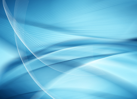 Photo pour Abstract blue background, beautiful lines and blur - image libre de droit