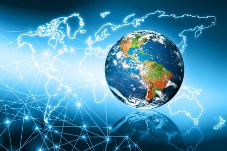Photo pour Best Internet Concept of global business from concepts series, connection symbols communication lines.   - image libre de droit