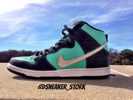 Nike SB Tiffany Dunk High x Diamond Supply Co.
