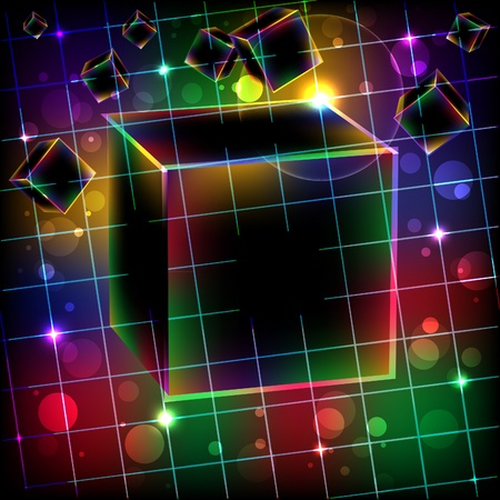 Abstract cube art vector background. Vector illustration.