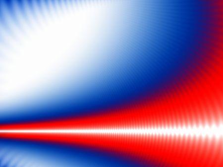 Foto de Abstract design with white wave on blue, red and white - Imagen libre de derechos